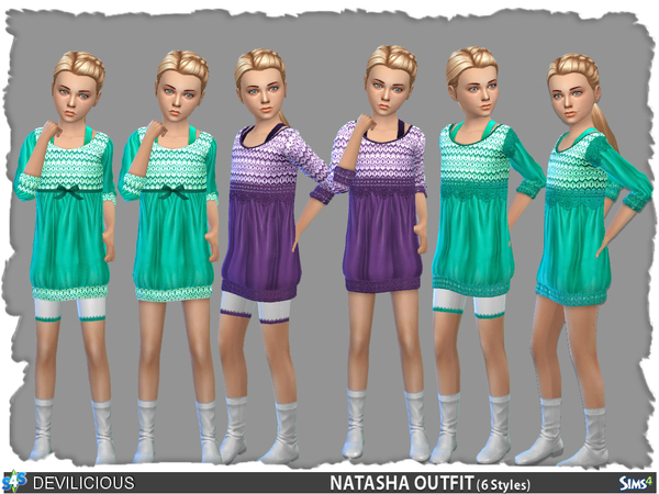 The Sims Resource: Natasha Full Outfit by Devilicious