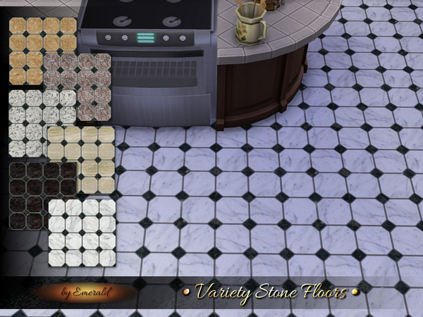 The Sims Resource: Variety Stone Floors by Emerald