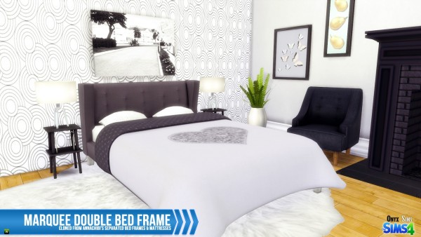 Onyx Sims Marquee Double Bed Frame Sims 4 Downloads