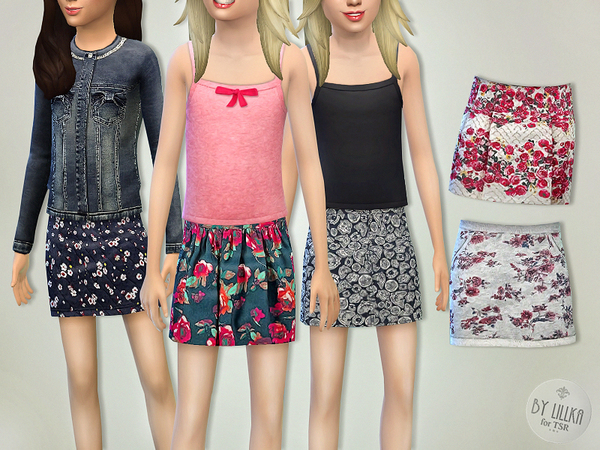The Sims Resource: Skirts Collection 01 by lillka