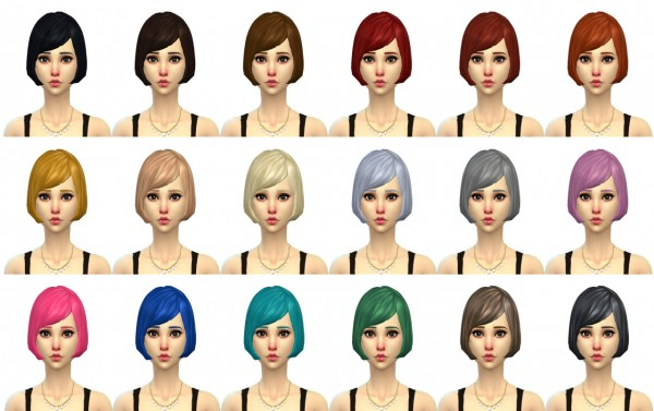 Saudade Sims: Young and Beautiful Hairstyle by Simduction