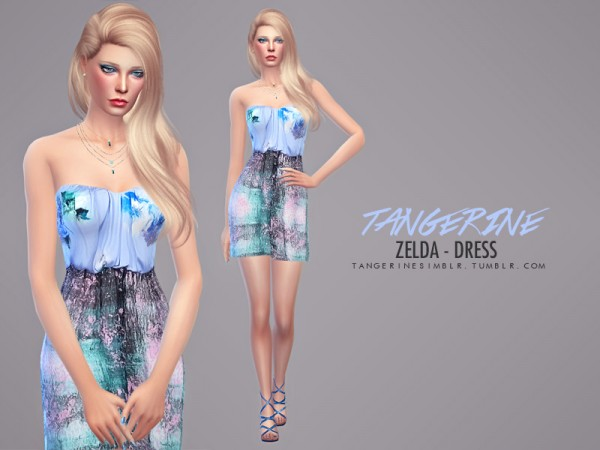 The Sims Resource: Zelda   Dress by Tangerinesimblr