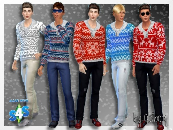All4Sims: Winter sweaters and hats