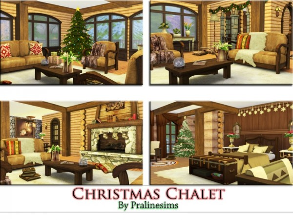 The Sims Resource: Christmas Chalet by PralineSims