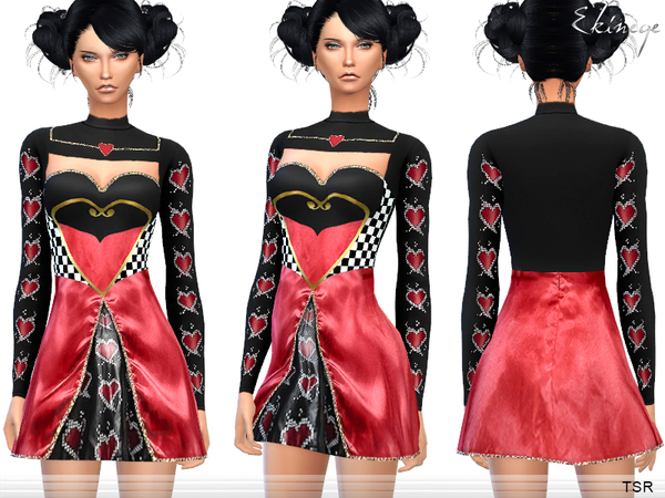 The Sims Resource: Halloween   Queen Of Hearts by Ekinege