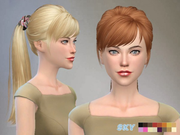 The Sims Resource: Skysims 115 Hairstyle