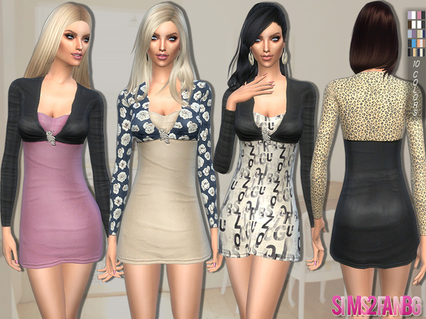 The Sims Resource: 95   Dress with vest by Sims2fanbg