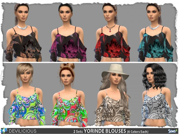 The Sims Resource: Yourinde Tops by Devilicious
