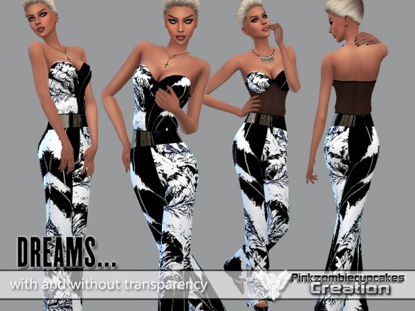 The Sims Resource: Exotic Breeze Dreams Jumpsuit by Pinkzombiecupcake