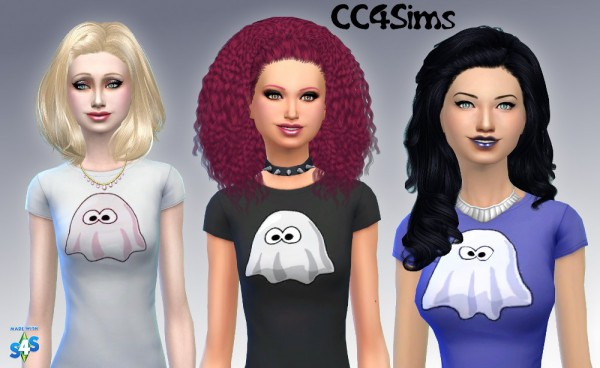 CC4Sims: Girls T shirt