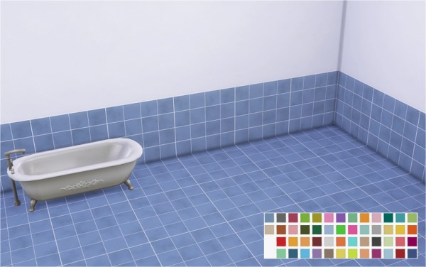 Veranka Bubble Tiles Bathroom Walls Floors Sims Downloads - Tiles for bathroom walls and floors