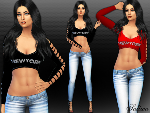The Sims Resource: Newyork Dream Outfit by Saliwa