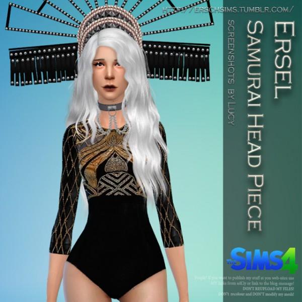 ErSch Sims: Samurai Head Piece by Ersel