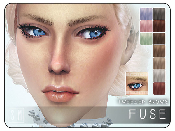 The Sims Resource: Fuse   Tweezed Brows by Screaming Mustard