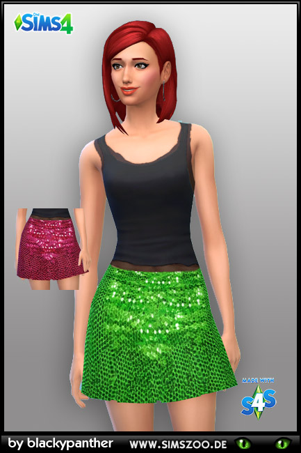 Blackys Sims 4 Zoo: Glamour rock skirt by blackypanther
