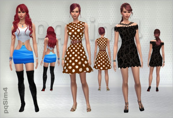 PQSims4: Pretty Woman inspired dress
