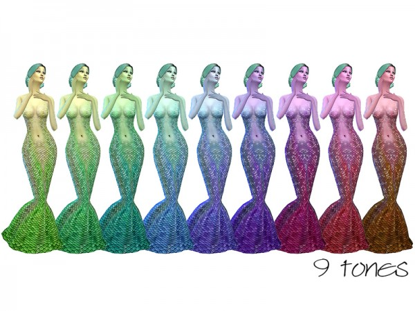 The Sims Resource: Rainbow Skintone Set by Ms Blue