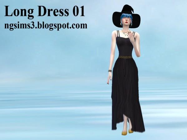 NG Sims 3: Long Dress 01