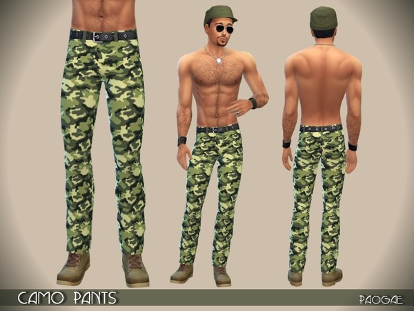The Sims Resource Camo Pants By Paogae Sims 4 Downloads