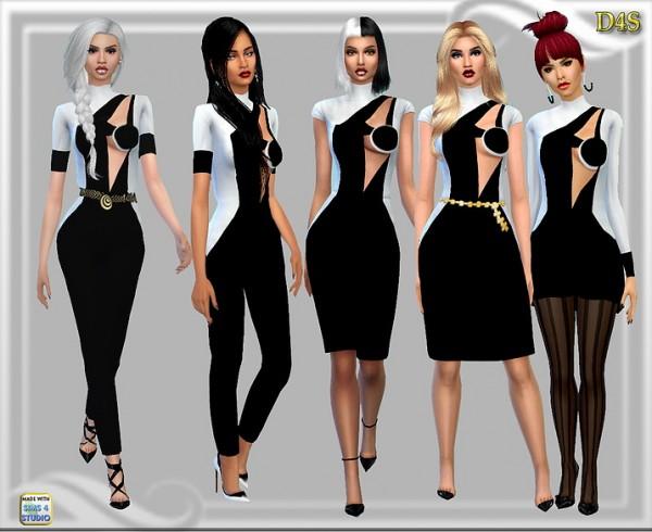 Dreaming 4 Sims: White Black Modern Set