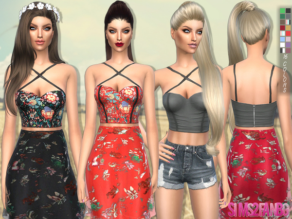 The Sims Resource: 92   Party top by sims2fanbg