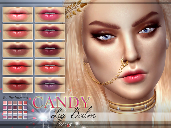 The Sims Resource: Candy Lip Balm | N28 by PralineSims