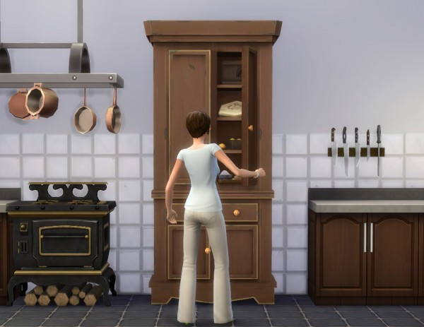 Mod The Sims: Kitchen Cupboard by plasticbox