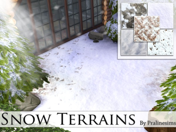 The Sims Resource: Snow Terrains by Pralinesims