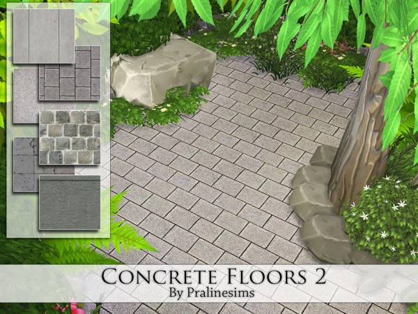 The Sims Resource: Concrete Floors 2 by Pralinesims