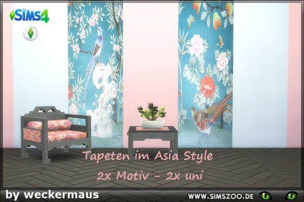 Blackys Sims 4 Zoo: Asia Style 1 Paints