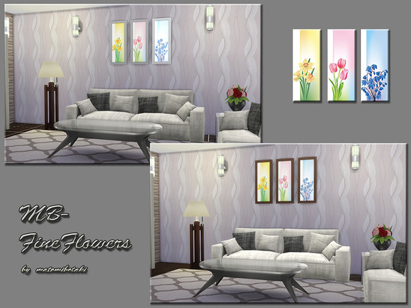 The Sims Resource: Fine Flowers by matomibotaki