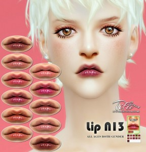 The Sims Resource: Gentle Nude Lips Intense N52 by