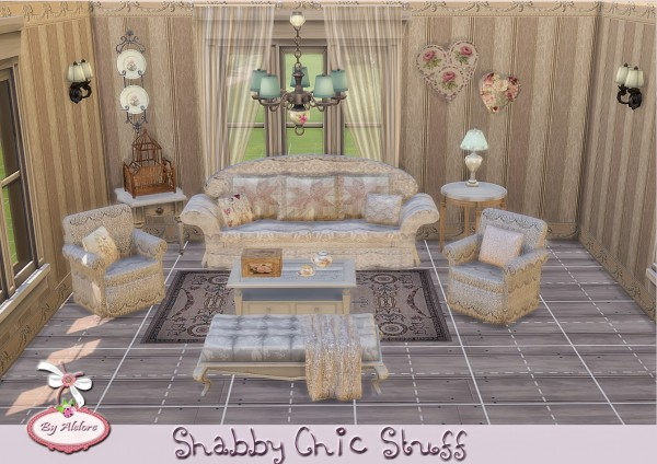alelore sims 4 shabby chic stuff sims 4 downloads. Black Bedroom Furniture Sets. Home Design Ideas
