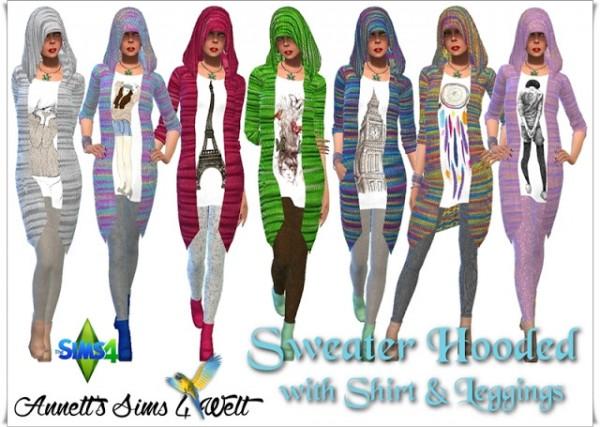 Annett`s Sims 4 Welt: Sweater Hooded
