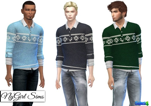 NY Girl Sims: Knitted Holiday Sweater