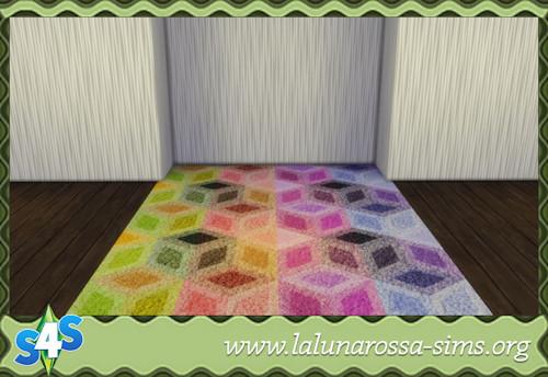 La Luna Rossa Sims: Colorful carpet