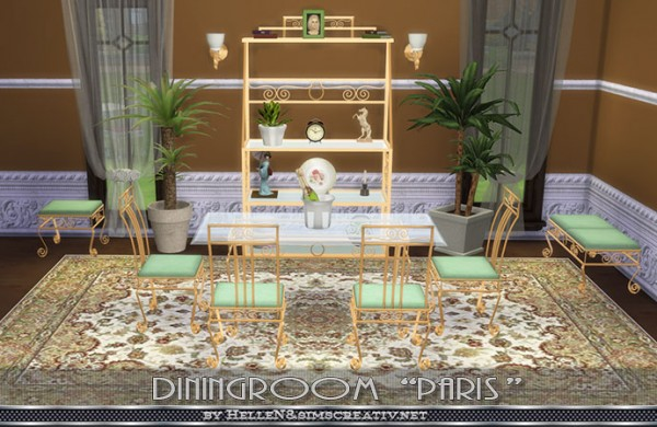 Sims Creativ: Diningroom Paris by HelleN