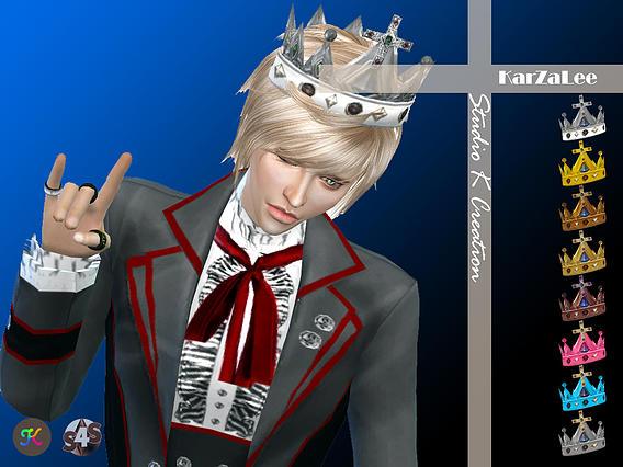 Studio K Creation: Medieval edge Cross crown • Sims 4