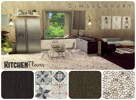 Sims4Luxury: Kitchen design floors