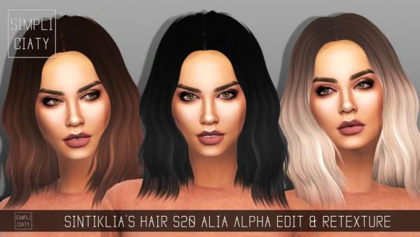 Simpliciaty: Sintiklia's Hairstyle 20 Alia