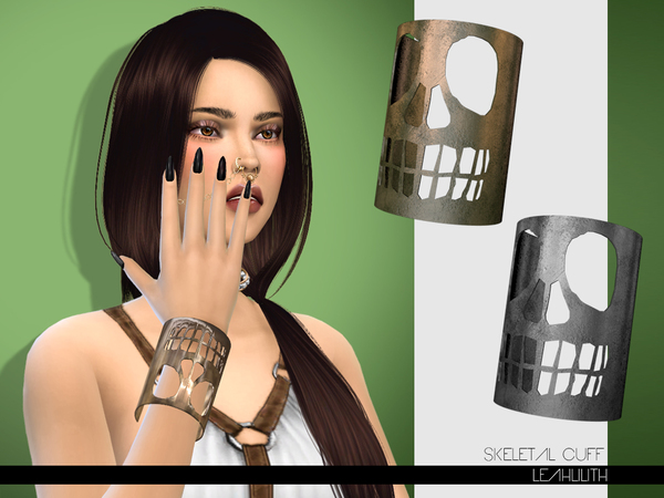 The Sims Resource: Skeletal Cuff by LeahLilith
