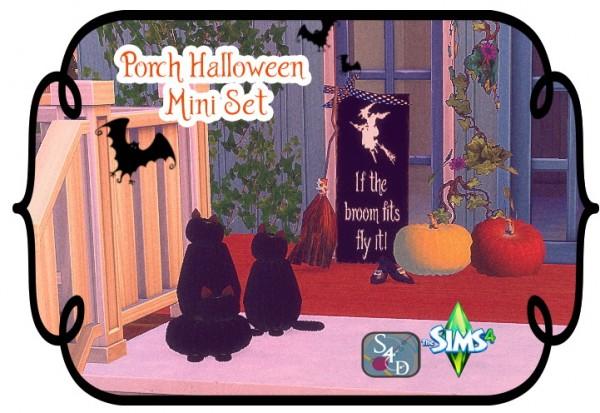 Sims 4 Designs: Porch Halloween Mini Set