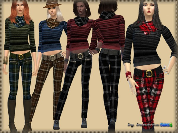 The Sims Resource: Set Pants and Sweater by Bukovka