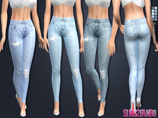 The Sims Resource 108 - Skinny jeans by sims2fanbg u2022 Sims 4 Downloads