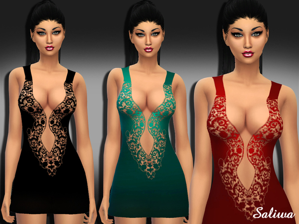 The Sims Resource: Night Beauty Dress by Saliwa