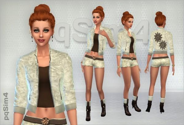 PQSims4: Set jacket, shorts and boots