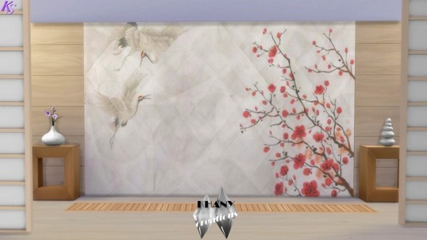Khany Sims: Japanese crane paintings by Khany