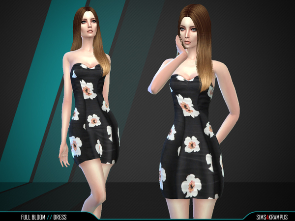 The Sims Resource: Full Bloom Dress by SIms4Krampus