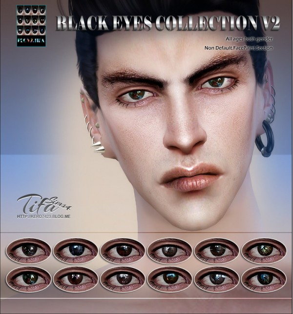 Tifa Sims: Black eyes collection V2