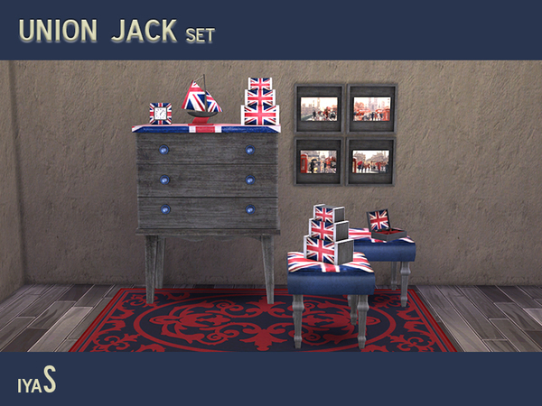 The Sims Resource: Union Jack set by soloriya